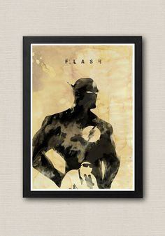Justice League Flash Ink Effect Poster / Print 220 gr by onlyarts, $14.90