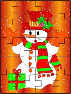 FREE PRINTABLE CHRISTMAS JIGSAW PUZZLES Christmas Jigsaw Puzzles, Christmas Puzzle, Preschool Christmas, Christmas 2019, Kids Christmas, Christmas Crafts, Fun Activities For Kids, Puzzles For Kids, Free Christmas Printables
