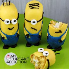 Minion Twinkies Are Adorable, Creme-Filled Minion Twinkies, Minion Cookies, Minion Cupcakes, Cute Cupcakes, Minion Party Food, Minion Theme, Minion Birthday, Fun Snacks For Kids, Kids Meals