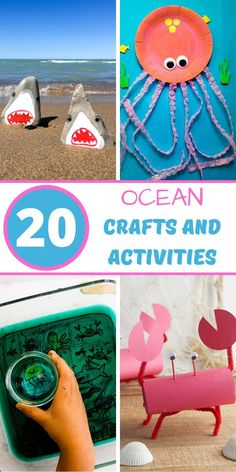 Summer Activities For Kids, Easy Crafts For Kids, Luau Crafts Kids, Ocean Activities, Spanish Activities, Free Activities, Toddler Crafts, Preschool Crafts, Family Activities