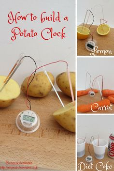 how to build a potato powered clock