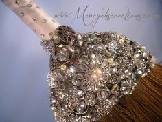 Crystal Wedding Broom BEZELED and BLINGED by marayahscreations, $188.00