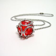dungeons and dragons, dice necklace, D20 necklace, geek necklace by Chainedcreativity, $12.00 USD