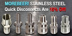 Save 15% On Stainless Steel Quick Disconnects