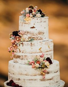More than 20 rustic country wedding cakes for the perfect fall wedding . - More than 20 rustic country wedding cakes for the perfect fall wedding – - Autumn Wedding Cakes, Pretty Wedding Cakes, Country Wedding Cakes, Floral Wedding Cakes, Wedding Cake Rustic, Amazing Wedding Cakes, Wedding Cake Designs, Wedding Cake Toppers, Rustic Weddings