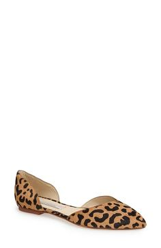 Free shipping and returns on Kristin Cavallari 'Cadence' Calf Hair d'Orsay Flat (Women) at Nordstrom.com. Exotic leopard spots in genuine calf hair pattern a sophisticated d'Orsay flat.