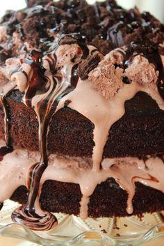 FudgeOOOOOOOOOOOoooooooooooooooooo Icecream Cake