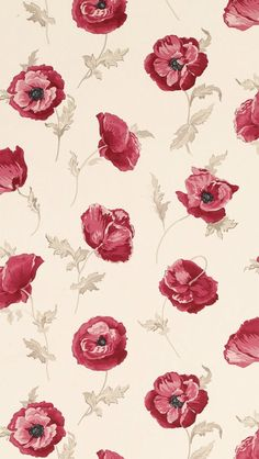 Freshford Floral Red Wallpaper by Laura Ashley Red Wallpaper, Flower Wallpaper, Pattern Wallpaper, Wallpaper Backgrounds, Screen Wallpaper, Glitter Wallpaper, Iphone Backgrounds, Wallpaper Ideas, Motif Floral
