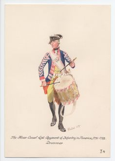 Hesse-Cassel Leib-Regiment of Infantry, Drummer, in America 1776-1783 by H.Knotel