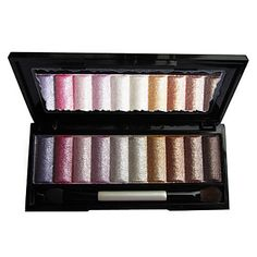 Soft Shimmer 10 Colors Eye Shadow Palette with Free Brush – USD $ 9.69