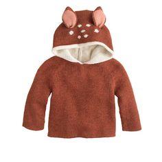Baby Oeuf bambi reversible hoodie