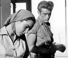 James Dean and Elizabeth Taylor in Giant