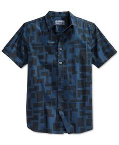 973e58769cd29 American Rag Men s Short Sleeve Graphic Shirt Men - Casual Button-Down  Shirts - Macy s