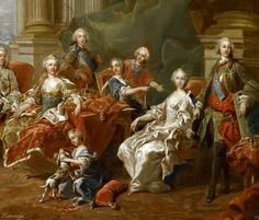 Версальский дворец: Луи-Мишель ван Ло -- Король Испании Филипп V с семьей, 1745