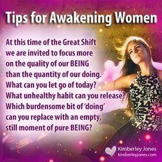 Tips for Awakening Women www.kimberleyjones.com