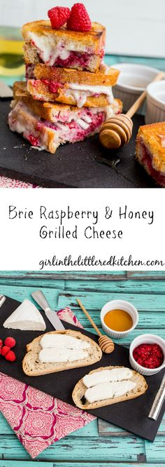 Brie Raspberry and Honey Grilled Cheese #SundaySupper