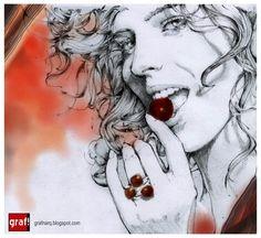 Eva Herzigova Girl Panic by ~grafnarq