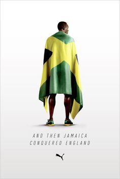 Nothing beats a beautiful headline + some vicarious nationalism.    Puma plays the Usain Bolt card.