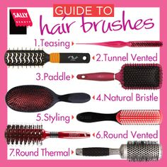 #SallyBeauty guide to hair brushes!