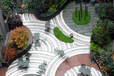 Patio Hôtel Novotel in Paris-Les-Halles by Christian Fournet, Paysagiste d'espaces verts