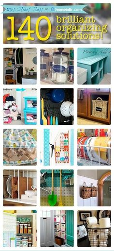 Over 140 Brilliant Organizing Solutions - Sharon E. Hines I checked out this page. It was pretty awesome. For example: Using a lazy susan in the fridge to organize jars and small items! Organize it: storage solutions & home organization ideas Diy Organisation, Household Organization, Storage Organization, Kitchen Organization, Storage Ideas, Creative Storage, Table Storage, Diy Storage, Organize Your Life