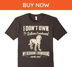 Mens My Redbone Coonhound Owns Me T-Shirt For Dog Lover 2XL Asphalt - Animal shirts (*Amazon Partner-Link)
