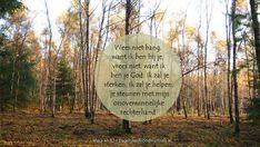 Wees niet bang, want ik ben bij je, vrees niet, want ik ben je God. Ik zal je sterken, ik zal je helpen, je steunen met mijn onoverwinnelijke rechterhand. Jesaja 41:10 #Angst, #God, #Hulp http://www.dagelijksebroodkruimels.nl/jesaja-41-10/