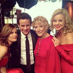 Miss this lady.  Jeanne Cooper with Christian & Michelle and me...