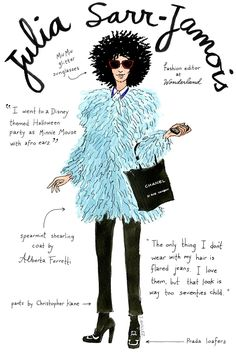 An Illustrated Guide To The Top Fashion Editors+#refinery29
