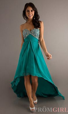 Dave and Johnny High Low Dress at PromGirl.com