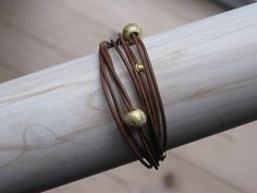 Homemade leather bracelet