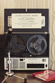 Audio Recorder Guest Book
