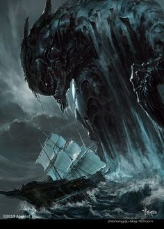 monster in deep, Bayard Wu on ArtStation at http://www.artstation.com/artwork/monster-in-deep
