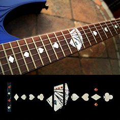 Fretboard Markers Inlay Sticker Decals Guitar Playing Card WP Material Is Pet for sale online Tonga, Vanuatu, Trinidad, Guitar Exercises, Guitar Stickers, Image Collage, Guitar Neck, Guitar Accessories, Guitar Parts