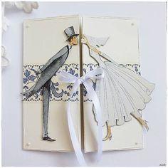 misha_cards / Svadobná pohľadnica s ľudovým motívom