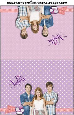 Violetta: Free Printables Party Invitations.