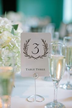 Table Numbers  Photography: Caroline Frost Photography - www.carolinefrostphotography.com