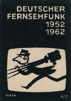 https://flic.kr/p/5qfw4f | east german matchbox label | Wikipedia page on Broadcasting in East Germany including a section on Deutscher Fernsehfunk.