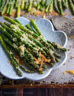 Parmesan Roasted Asparagus - I Wash... You Dry
