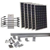 DIY on Grid solar PV systems. Grid Tie solar PV kits for DIY installations
