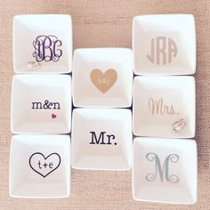 FREE DATE INCLUDED Wedding Personalized Ring by RockPaperStyleShop