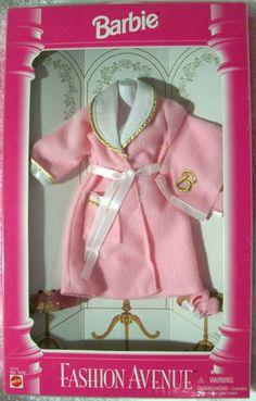 Fashion Avenue Barbie 1995 12173 Lingerie Pink Robe NFRB | eBay