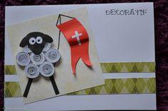 Fotoblog decoratif.flog.pl. - Baranek #W01. Kartka wykonana metodą quillingu. Wymiary: 10,5 x 14,8 cm....