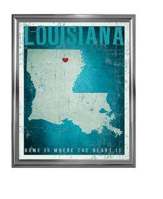 Home is where the heart is LOUISIANA by artgaja on Etsy