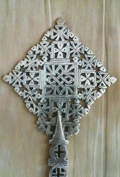 Large Handmade Ethiopian Coptic Hand Cross Orthodox Christianity