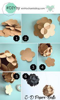 3-D paperballs DIY | Hochzeitsblog
