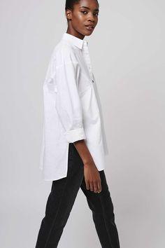 Oversized Chambray Shirt - Tops - Clothing - Topshop