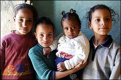A tribute to Bedouin Girls to celebrate International Day of the Girl on 11th October 2014 and every day.Empowering girls to flourish worldwide.  Sinai bedouin Girls&Boys holds a special place in  my heart.This is a stunning family photo of 4 very beautiful and sweet young bedouin girls.
