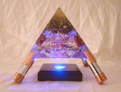 Orgonite Pyramid with glowing light - Shambala-orgonite