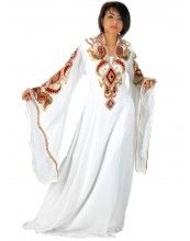 """aljalabiya.com: """"Velvet Magneto"""" Pure Chiffon Jalabiya with hand embroidery with velvet on chest and cuff (N-12019)  6 Review(s)    Regular Price: $372.00    Special Price: $279.00"""